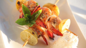 Infinite_Africa_Travel_Mozambique_Coral_Lodge_Prawn_Skewer_Lunch